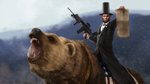 Abe-Lincoln-With-An-Assault-Rifle-Riding-A-Grizzly-full